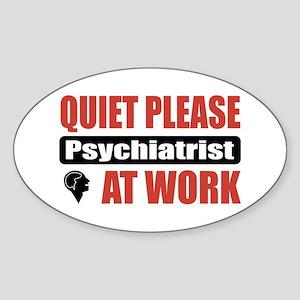 Psychiatrist Work Oval Sticker