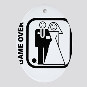 Game Over Oval Ornament