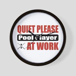 Pool Player Work Wall Clock