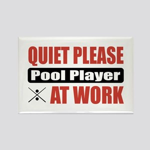 Pool Player Work Rectangle Magnet