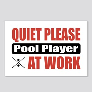 Pool Player Work Postcards (Package of 8)
