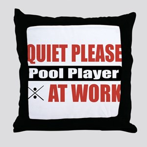 Pool Player Work Throw Pillow