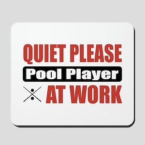 Pool Player Work Mousepad