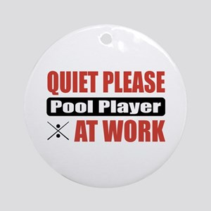 Pool Player Work Ornament (Round)