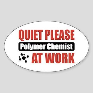 Polymer Chemist Work Oval Sticker