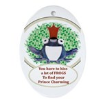 Enchanted Frog Oval Ornament