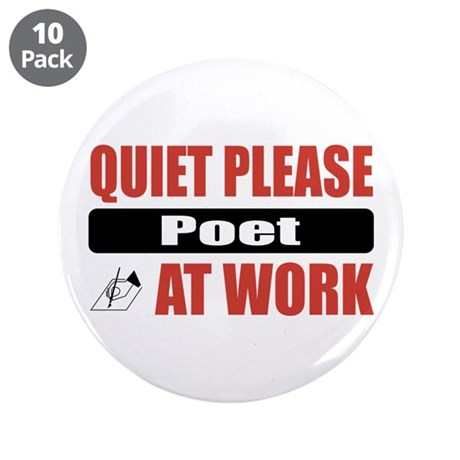 """Poet Work 3.5"""" Button (10 pack)"""