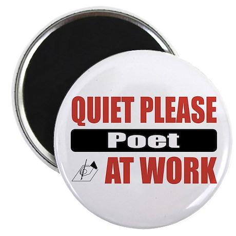 """Poet Work 2.25"""" Magnet (10 pack)"""