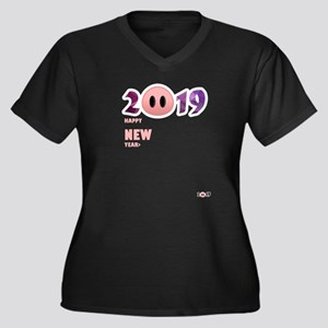 2019 Happy New Year Pig T Shirt Plus Size T-Shirt