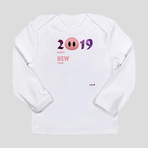 2019 Happy New Year Pig T Shir Long Sleeve T-Shirt
