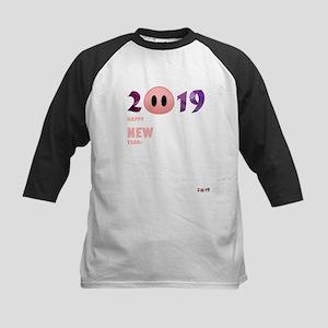 2019 Happy New Year Pig T Shirt Baseball Jersey