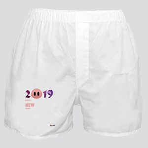 2019 Happy New Year Pig T Shirt Boxer Shorts