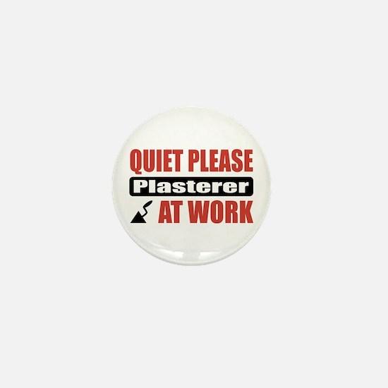 Plasterer Work Mini Button