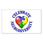 Autism Awareness Rectangle Sticker 10 pk)