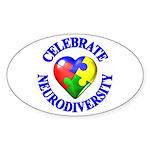 Autism Awareness Oval Sticker (50 pk)