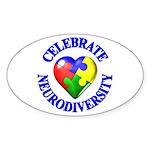 Autism Awareness Oval Sticker (10 pk)