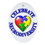 Autism Awareness Oval Ornament