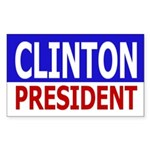 Clinton for President (bumper sticker)