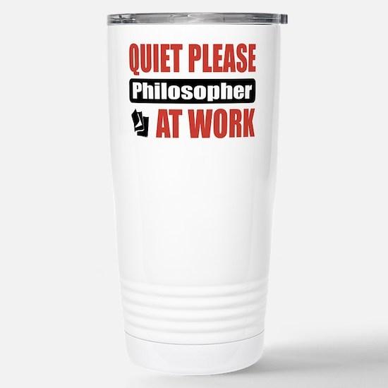 Philosopher Work Stainless Steel Travel Mug