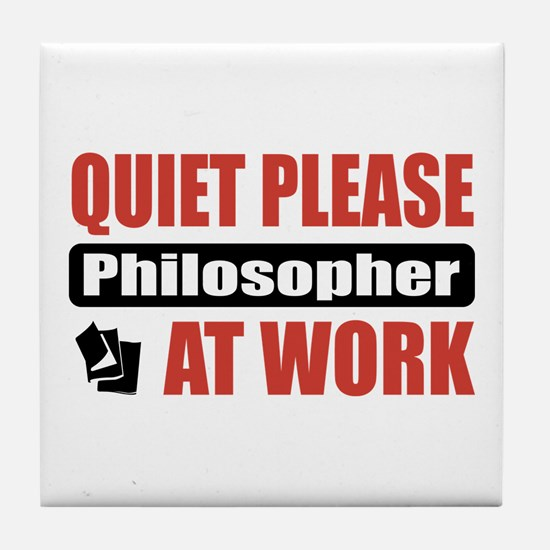 Philosopher Work Tile Coaster