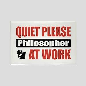 Philosopher Work Rectangle Magnet