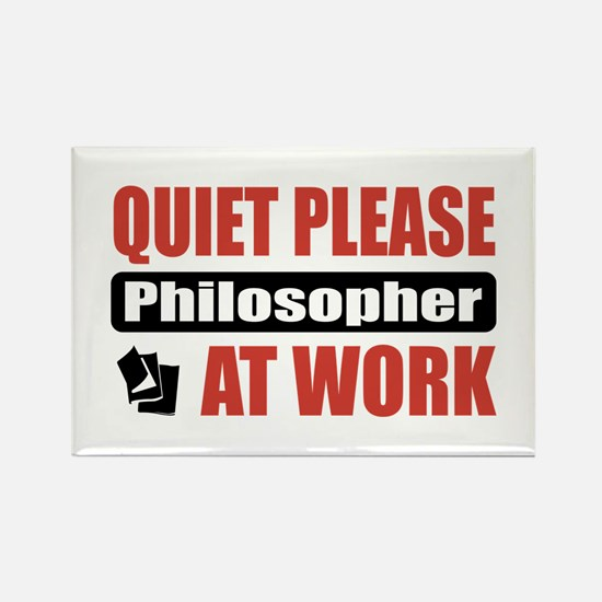 Philosopher Work Rectangle Magnet