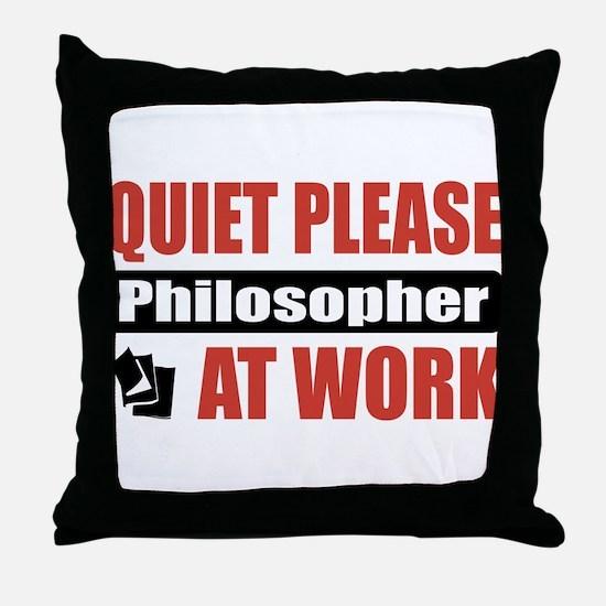 Philosopher Work Throw Pillow