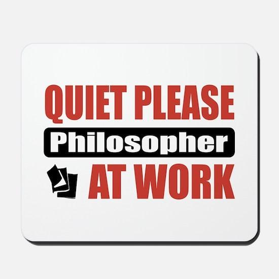Philosopher Work Mousepad