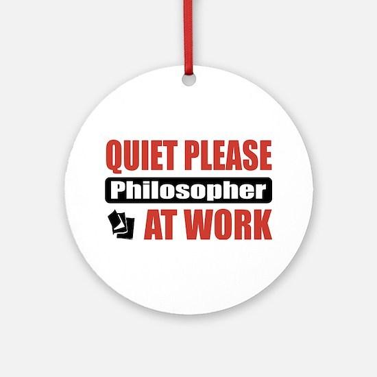 Philosopher Work Ornament (Round)