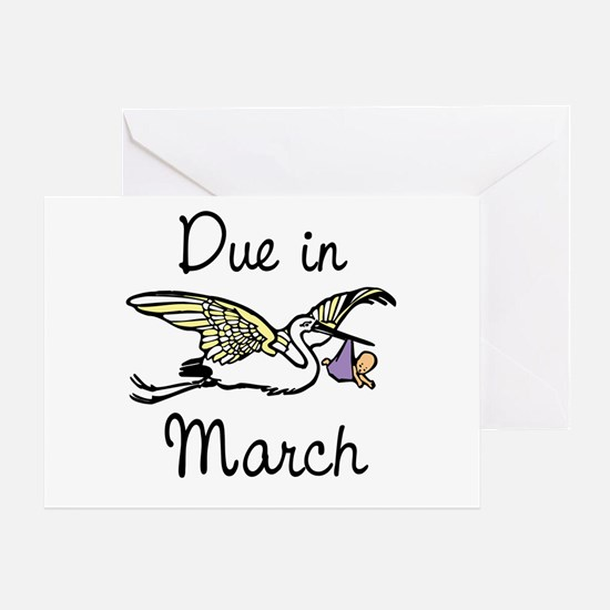 due in march418 Greeting Cards