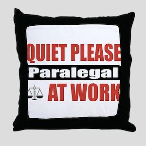 Paralegal Work Throw Pillow