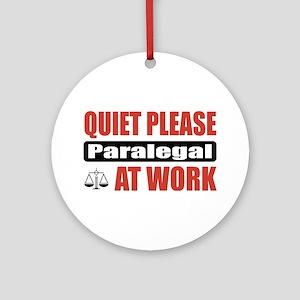 Paralegal Work Ornament (Round)