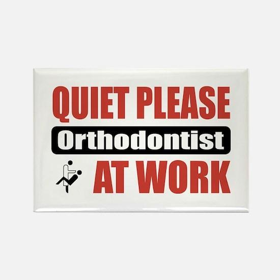 Orthodontist Work Rectangle Magnet