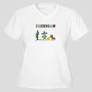 Irexican Women's Plus Size V-Neck T-Shirt