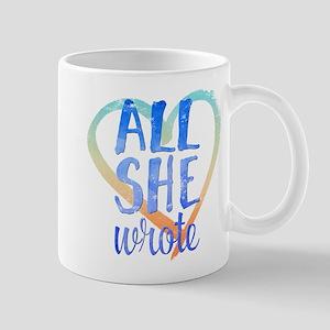 all all she wrote Mugs