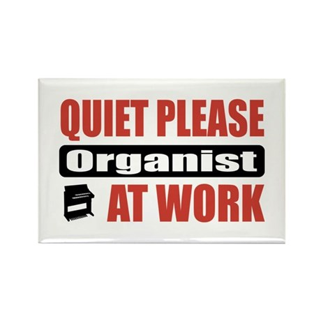 Organist Work Rectangle Magnet (100 pack)