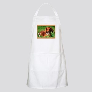 Red Long BBQ Apron
