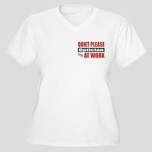 Optician Work Women's Plus Size V-Neck T-Shirt
