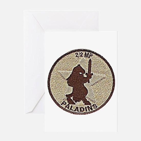 2/2 Military Police Paladins Greeting Card