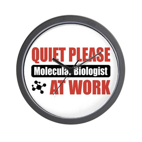 Molecular Biologist Work Wall Clock