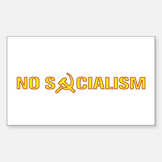 No Socialism Rectangle Decal