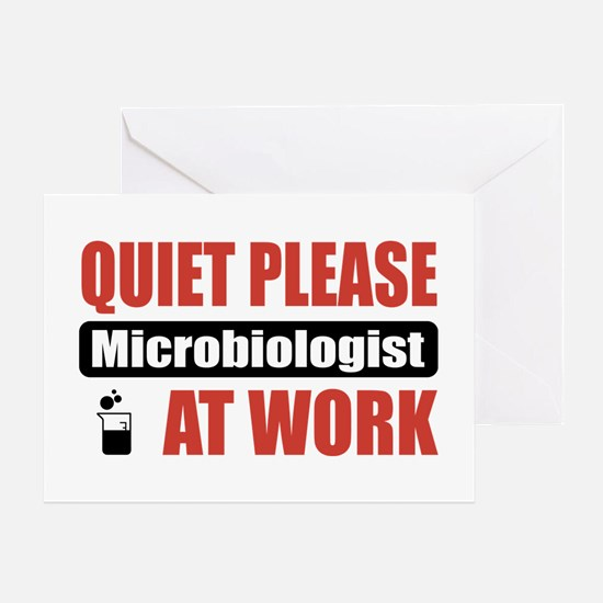 Microbiologist Work Greeting Card