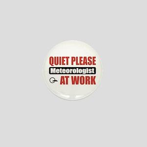 Meteorologist Work Mini Button