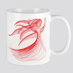 Lady in Red Mug