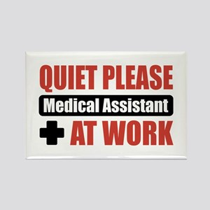 Medical Assistant Work Rectangle Magnet