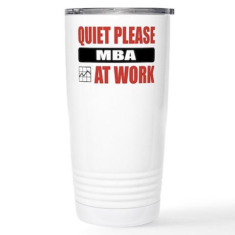 MBA Work Stainless Steel Travel Mug