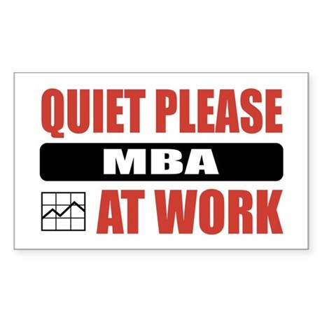 MBA Work Rectangle Sticker