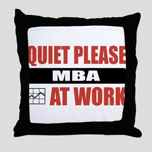 MBA Work Throw Pillow