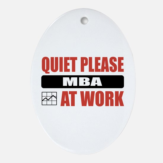MBA Work Oval Ornament