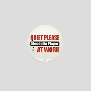 Mandolin Player Work Mini Button